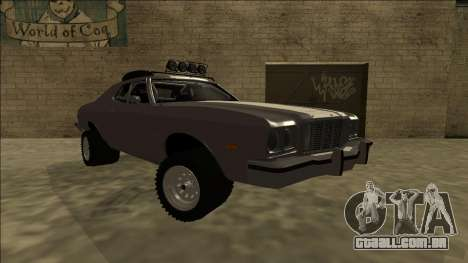 Ford Gran Torino Rusty Rebel para GTA San Andreas vista direita