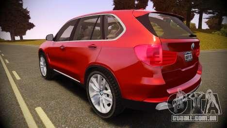 BMW X5 2014 para GTA 4 esquerda vista