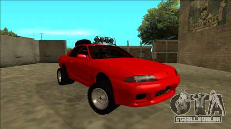 Nissan Skyline R32 Rusty Rebel para GTA San Andreas vista direita