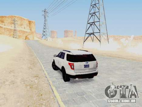 Ford Explorer 2013 Semi-Tuning para GTA San Andreas vista direita