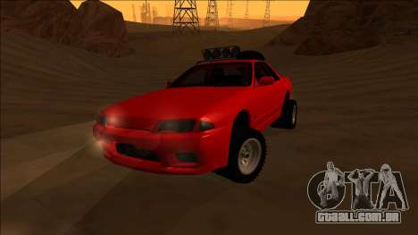Nissan Skyline R32 Rusty Rebel para GTA San Andreas vista interior