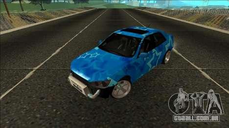 Lexus IS300 Drift Blue Star para GTA San Andreas vista traseira