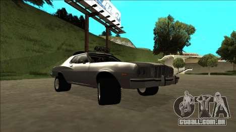 Ford Gran Torino Rusty Rebel para vista lateral GTA San Andreas