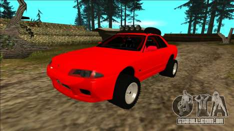 Nissan Skyline R32 Rusty Rebel para GTA San Andreas vista inferior