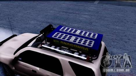 Toyota 4runner 2009 Full Off-Road para GTA San Andreas traseira esquerda vista
