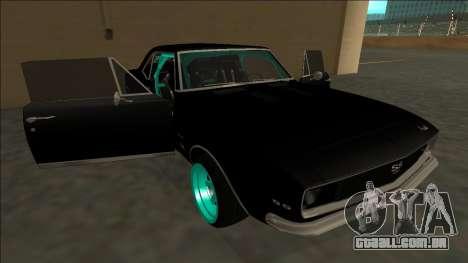 Chevrolet Camaro SS Drift para o motor de GTA San Andreas