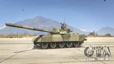 GTA 5 T-80U vista lateral esquerda