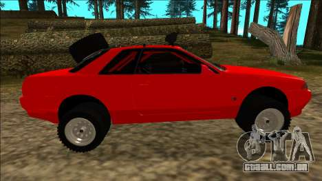 Nissan Skyline R32 Rusty Rebel para as rodas de GTA San Andreas