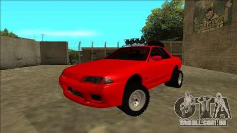 Nissan Skyline R32 Rusty Rebel para GTA San Andreas traseira esquerda vista