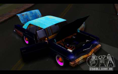 Dodge Dart 1975 v2 Estilo Rusty para vista lateral GTA San Andreas