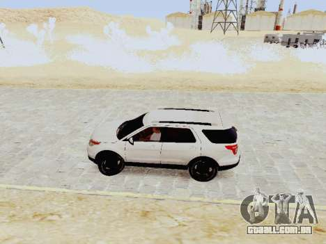 Ford Explorer 2013 Semi-Tuning para GTA San Andreas esquerda vista