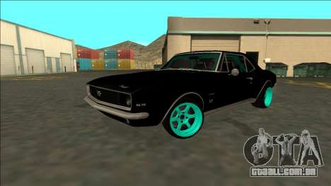 Chevrolet Camaro SS Drift para GTA San Andreas vista interior