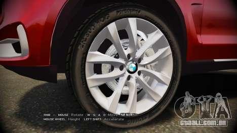 BMW X5 2014 para GTA 4 vista de volta