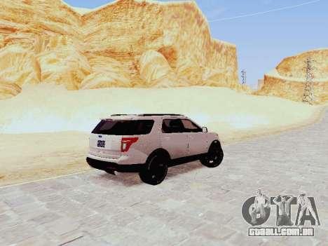 Ford Explorer 2013 Semi-Tuning para GTA San Andreas traseira esquerda vista