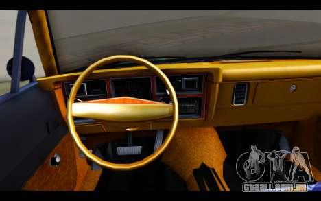 Dodge Dart 1975 v2 Estilo Rusty para GTA San Andreas traseira esquerda vista