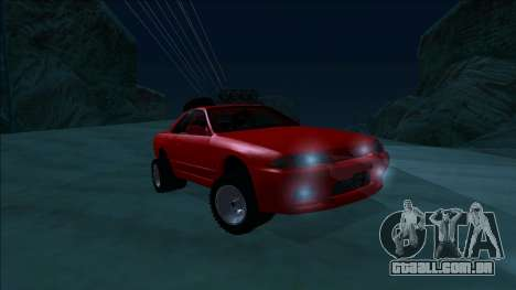 Nissan Skyline R32 Rusty Rebel para vista lateral GTA San Andreas