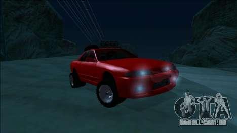 Nissan Skyline R32 Rusty Rebel para vista lateral GTA San Andreas