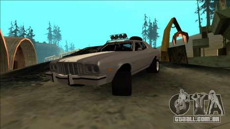 Ford Gran Torino Rusty Rebel para GTA San Andreas vista interior