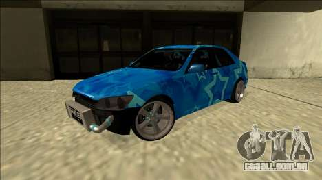 Lexus IS300 Drift Blue Star para GTA San Andreas traseira esquerda vista