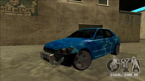 Lexus IS300 Drift Blue Star para GTA San Andreas vista inferior