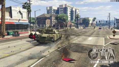 GTA 5 T-80U frente vista lateral direita