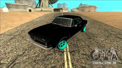 Chevrolet Camaro SS Drift para GTA San Andreas traseira esquerda vista