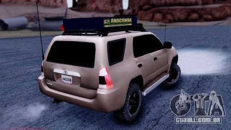 Toyota 4runner 2009 Full Off-Road para GTA San Andreas esquerda vista