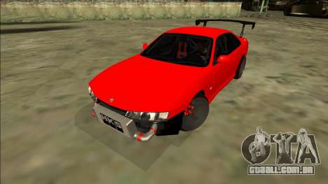 Nissan Silvia S14 Drift para GTA San Andreas traseira esquerda vista