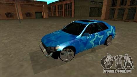 Lexus IS300 Drift Blue Star para GTA San Andreas vista superior