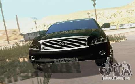 Infiniti QX80 para GTA San Andreas vista interior