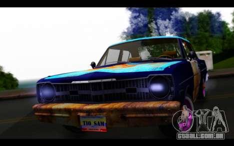 Dodge Dart 1975 v2 Estilo Rusty para GTA San Andreas vista traseira