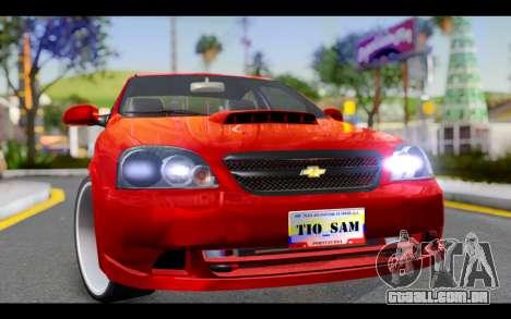 Chevrolet Optra 2007 para GTA San Andreas vista traseira