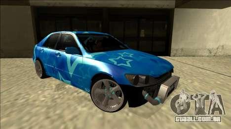 Lexus IS300 Drift Blue Star para GTA San Andreas vista direita