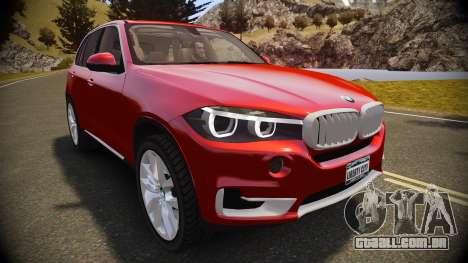 BMW X5 2014 para GTA 4 vista direita
