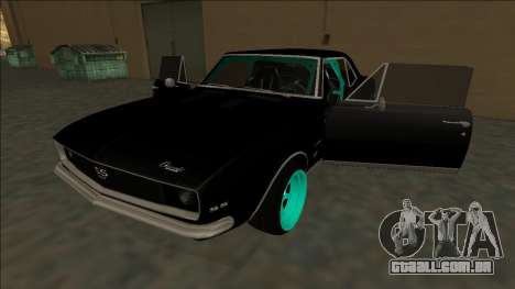 Chevrolet Camaro SS Drift para GTA San Andreas vista inferior