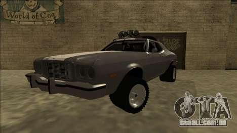 Ford Gran Torino Rusty Rebel para GTA San Andreas traseira esquerda vista