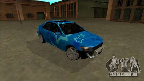Lexus IS300 Drift Blue Star para vista lateral GTA San Andreas