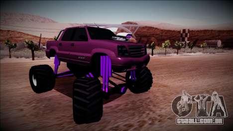 GTA 4 Cavalcade FXT Monster Truck para GTA San Andreas vista direita