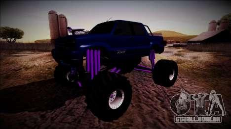 GTA 4 Cavalcade FXT Monster Truck para GTA San Andreas vista traseira