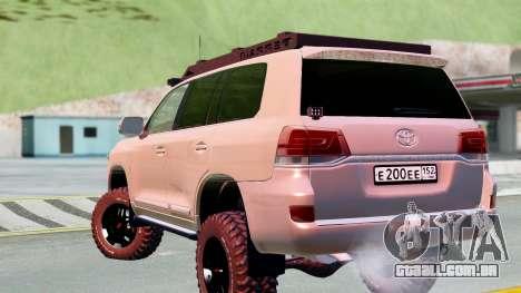 Toyota Land Cruiser 200 2016 para GTA San Andreas esquerda vista