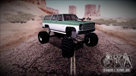 Rancher XL Monster Truck para GTA San Andreas vista superior
