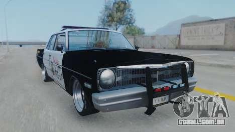 Dodge Dart 1975 v3 Police para GTA San Andreas traseira esquerda vista