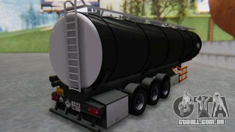 Trailer Cistern para GTA San Andreas esquerda vista