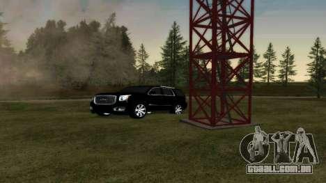GMC Yukon 2015 para GTA San Andreas vista traseira