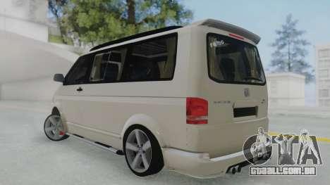 Volkswagen Transporter TDI para GTA San Andreas esquerda vista