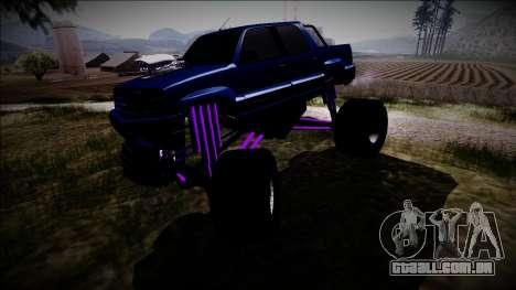 GTA 4 Cavalcade FXT Monster Truck para GTA San Andreas vista interior