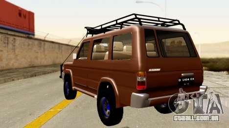 Toyota Kijang Grand Extra Off-Road para GTA San Andreas esquerda vista