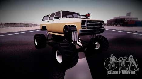 Rancher XL Monster Truck para GTA San Andreas esquerda vista