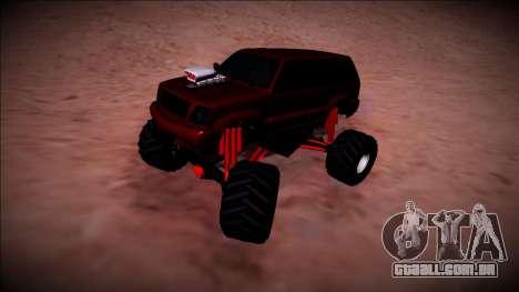 GTA 4 Cavalcade Monster Truck para GTA San Andreas vista traseira