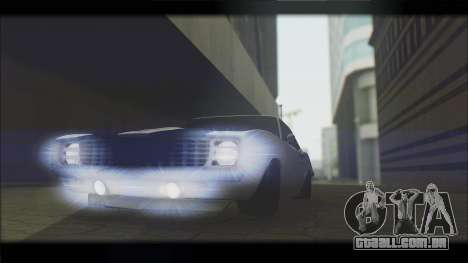 Chevrolet Camaro Z28 1969 Special Edition para GTA San Andreas vista interior